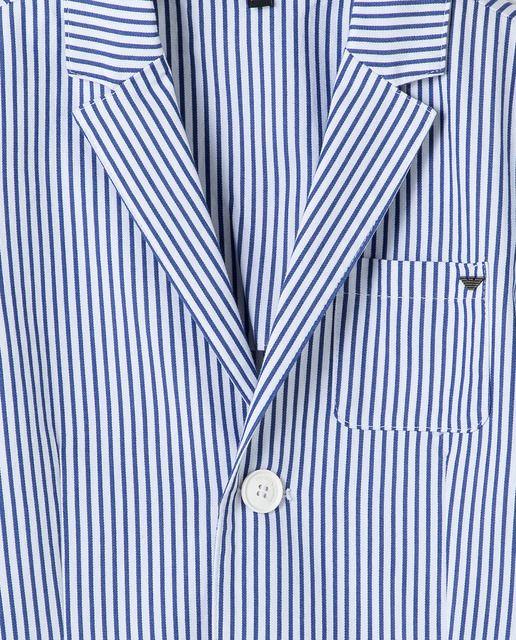 Camisa Casual Moderna de Lujo con Estilo a Rayas Azul y
