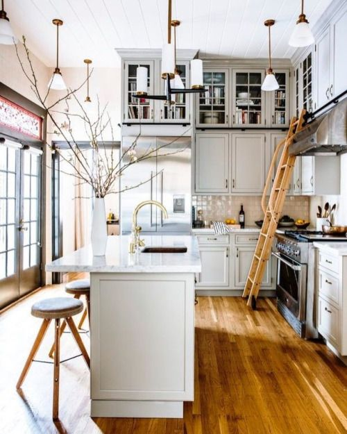 a blog with a view - kitchen ladder