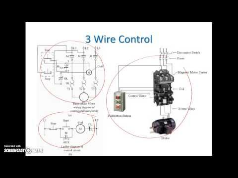 Ladder Diagram Basics 3 2 Wire 3 Wire Motor Control Circuit Youtube Ladder Logic Diagram Motor