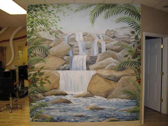 mural waterfalls - Pesquisa Google
