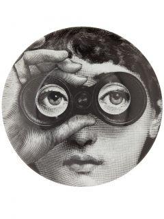 フォルナ・セッティ 円高還元▼FORNA SETTI▼Printed Plate woman's with binoculars.   インテリア - キッチン・クッキング - 皿 海外通販ならLASO(ラソ)