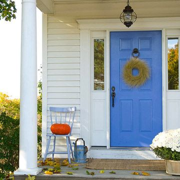 I love colorful front doors