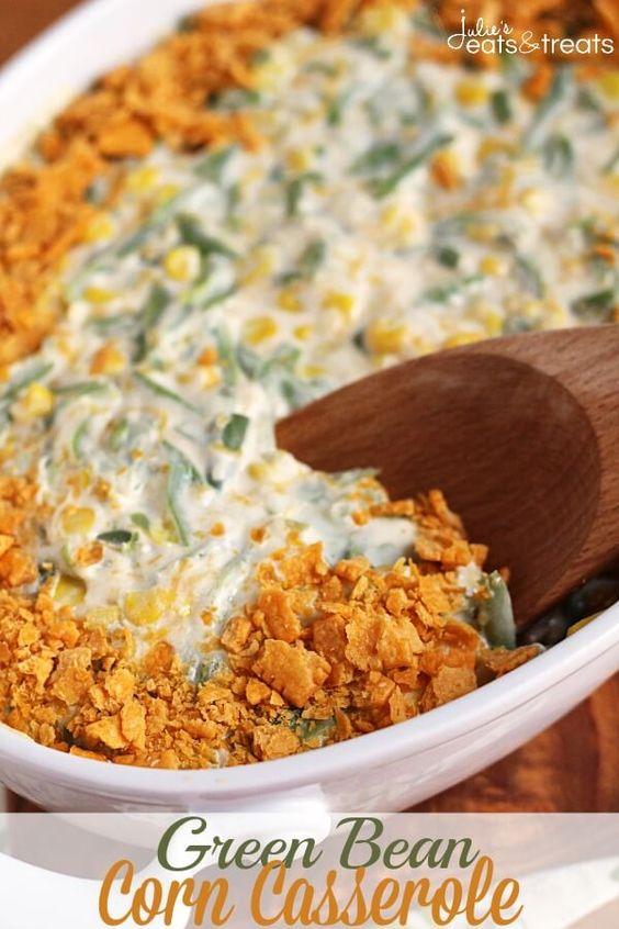 Green Bean Corn Casserole | Recipe | Green Beans, Corn Casserole and ...