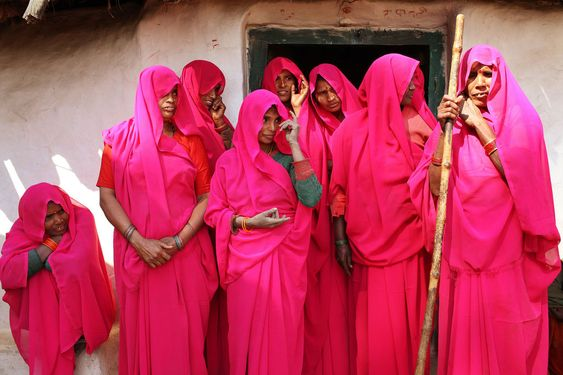 """Fed up with abusive husbands and corrupt officials, India's poorest women are banding together, taking up arms, and fighting back. Even more shocking than the pink saris they wear: Their quest for justice is actually working. In one of the most backward regions of India, the badlands of Central India, village women dressed in pink saris are getting together to fight corruption and injustice and to raise their voices against the system."""" Pink Gang"""" fights for the rights of women an..."""