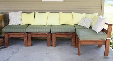 Outdoor bench 2x4 wood