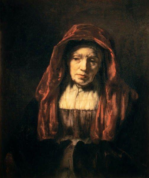 In de woonkamer hangt er een groot, nogal beangstigend schilderij ...