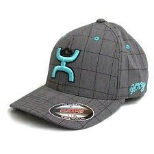 Hooey Cactus Ropes Cap® Grey and Teal Flex Fit Hat