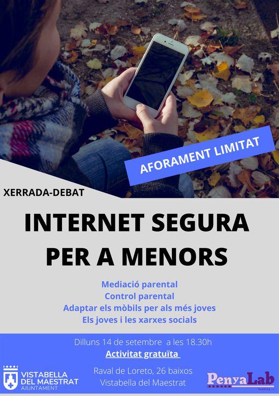 Xerrada-debat 'Internet segura per a menors'