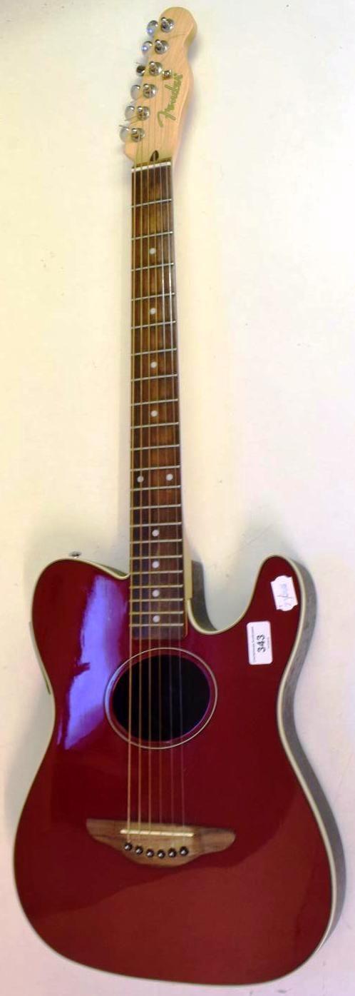 Fender telecaster acoustic telecoustic guitar ukulele corner