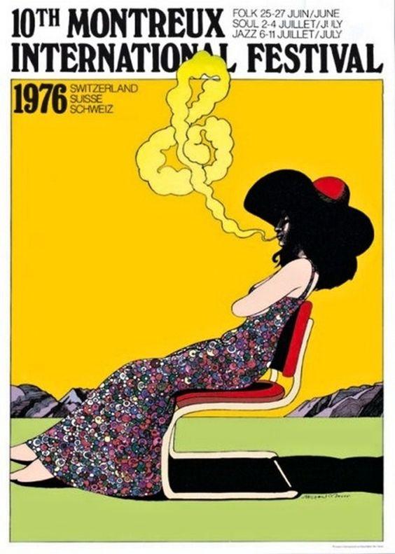 Milton Glaser - Montreux International Music Festival, 1976
