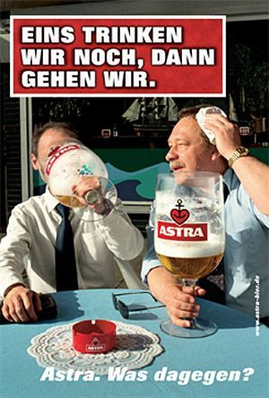 Astra  ....reminded me of the the old Whitbread adverts...the pint that think it's a quart.....