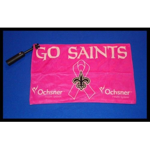 *BRAND NEW* NEW ORLEANS SAINTS PINK BREAST CANCER FLAG *FACTORY SEALED* - $5.99