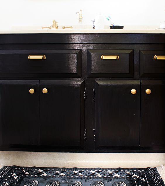 cats black gold and hardware on pinterest. Black Bedroom Furniture Sets. Home Design Ideas