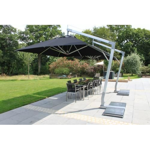 Hurricane 10 Square Side Wind Aluminum Off Set Market Umbrella In 2020 Cantilever Umbrella Patio Umbrellas Patio