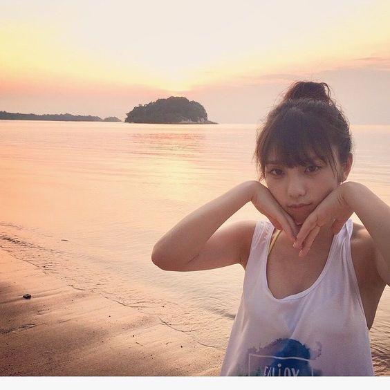 夕焼けビーチと与田祐希