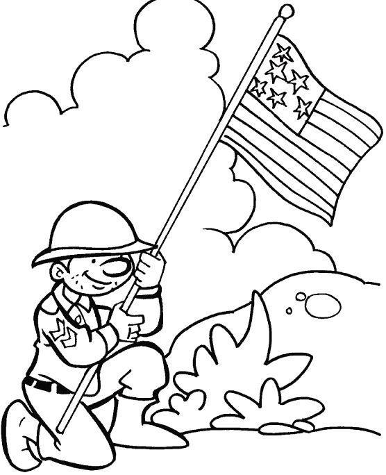 flag established veterans day coloring pages for the