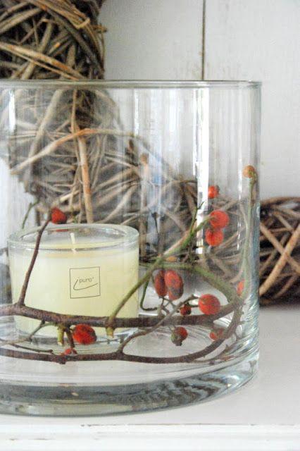 Herbstdeko aus der Natur  weihnachten  Pinterest