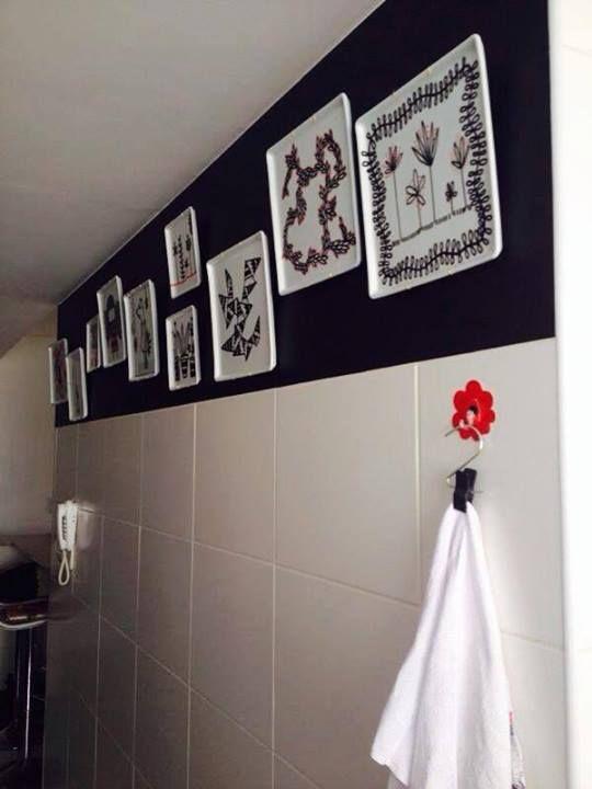Cozinha decorada com nossos pratos.