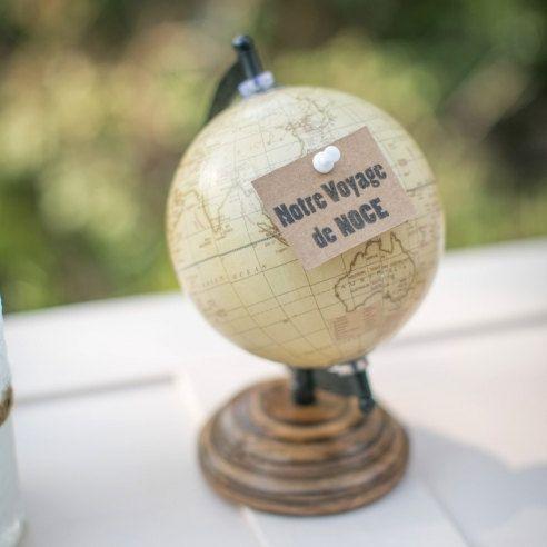 Globe pour voyage de noces valise vintage urne de mariage livre d 39 or mariage on etsy 24 90 - Urne mariage originale ...