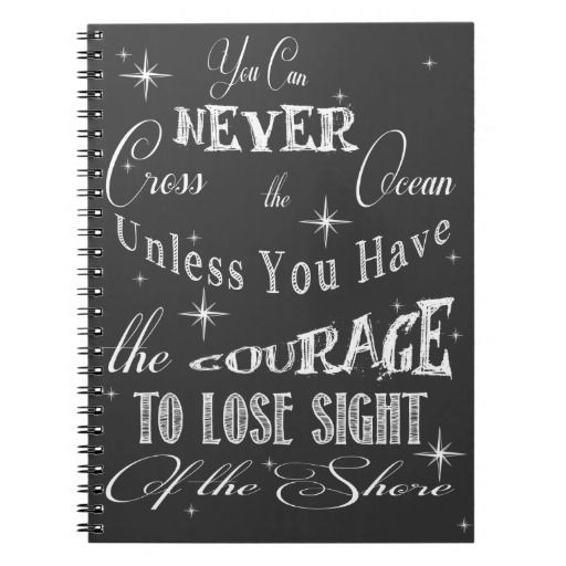 Courage Inspirational Notebook
