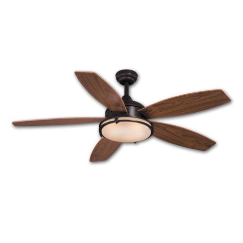 Taliesin Oil Burnished Bronze 52 Inch Taliesin Ceiling Fan Vaxcel Stem Mounted Fan Ceiling