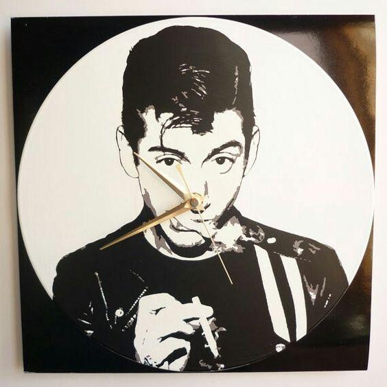 Alex Turner vinyl clock