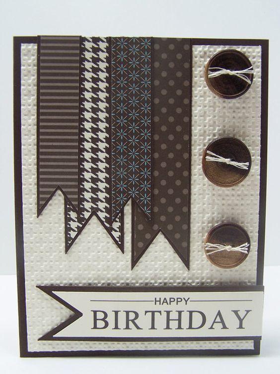 Stampin Up Handmade Happy Birthday Greeting Card Homemade Birthday Cards Birthday Cards For Men Cards Handmade
