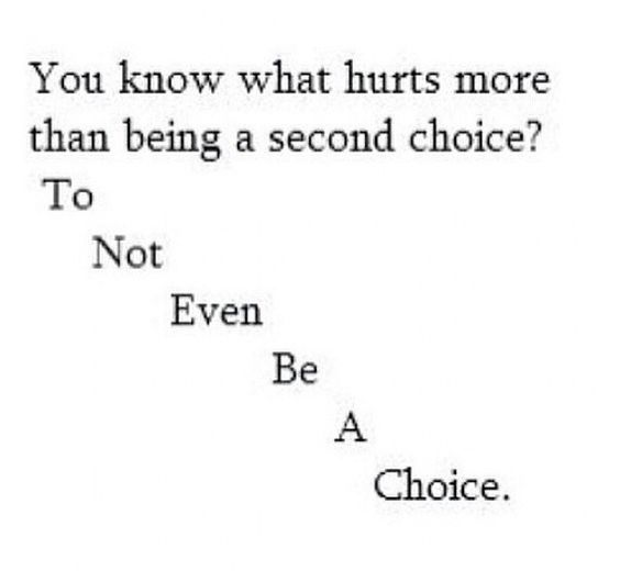to not even be a choice