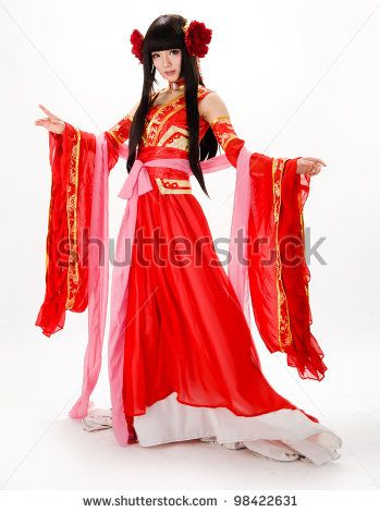 Asia / Chinese girl in red traditional dress by DK.samco, via Shutterstock
