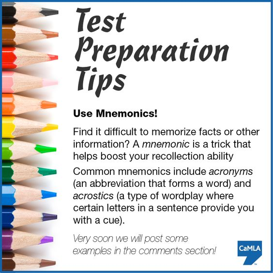 Memorizing using acronyms - Study Guides and Strategies