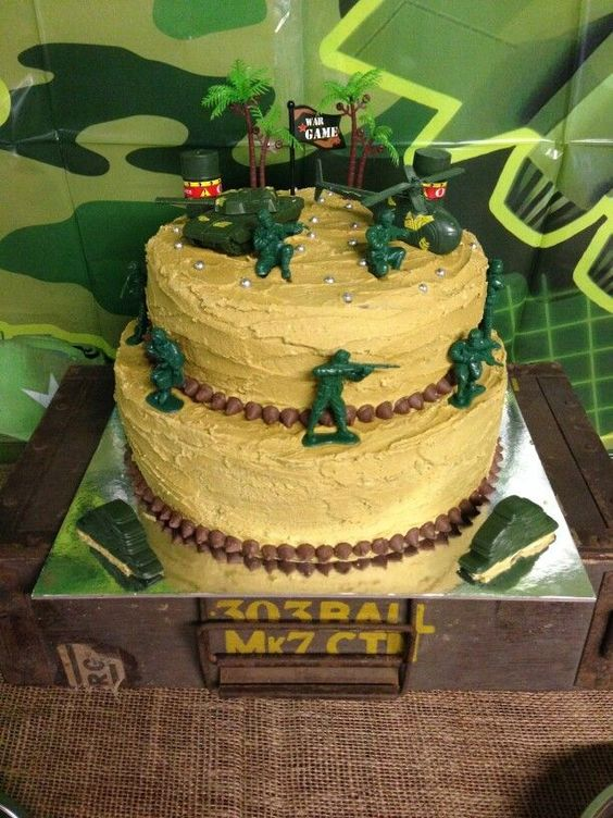 Army Cake - Army Party Army party Pinterest Army ...