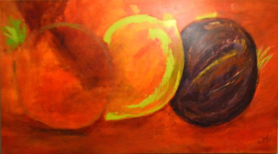 Cuadro: Frutos - Autora: Mónica Abumohor