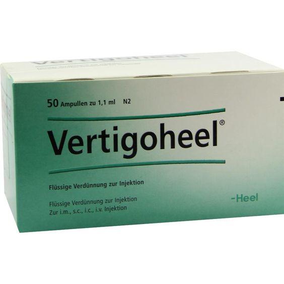 VERTIGOHEEL Ampullen:   Packungsinhalt: 50 St Ampullen PZN: 01088907 Hersteller: Biologische Heilmittel Heel GmbH Preis: 54,38 EUR inkl.…