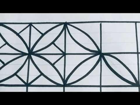 رسم الزخارف الدائرية الزخارف الهندسية والنباتية Art