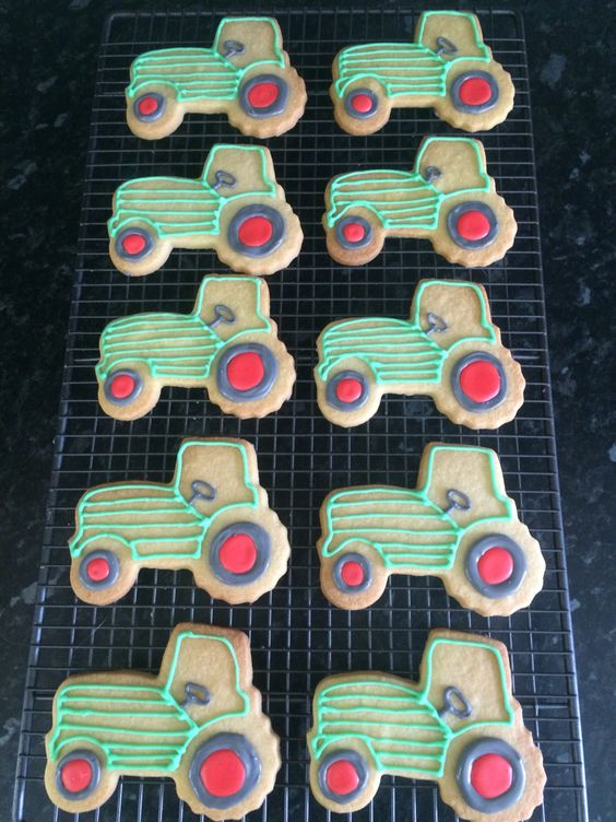 Tractor Biscuits by Dinky Dots