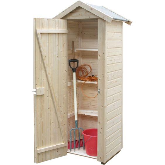 Armoire de jardin en bois Wissant, 009 m3 Balcon Pinterest - armoire a balai exterieur