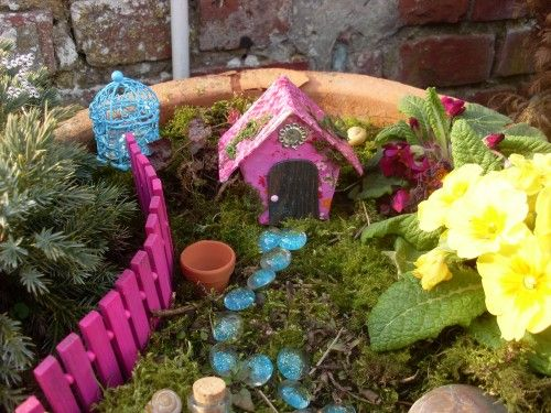 Petit jardin de f e yaya petit chat pinterest - Jardin de fee ...
