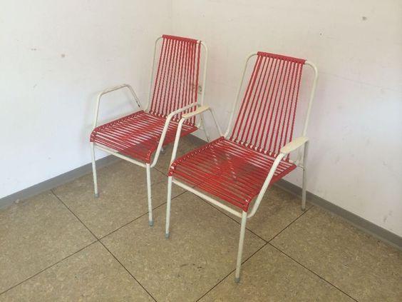 2x DDR Stuhl Spaghetti Eisdiele Wäscheleine Gartenstühle