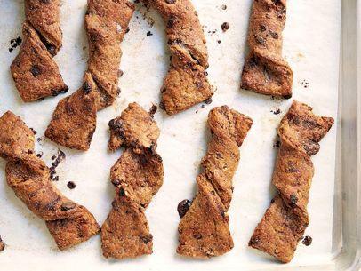 Whole-Grain Chocolate-Cherry Bread Twists