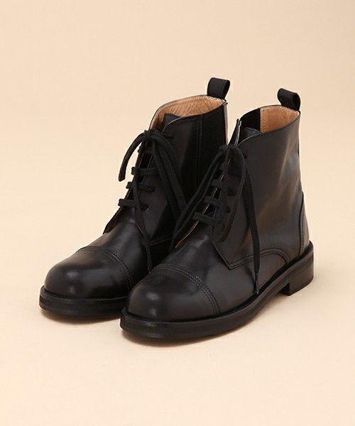 レースアップショートブーツ(ブーツ)|conges payes ADIEU TRISTE...(コンジェ ペイエ アデュートリステス)のファッション通販 - ZOZOTOWN