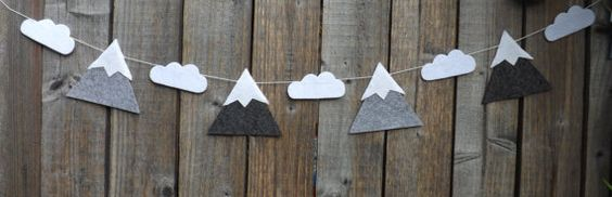 Hey, I found this really awesome Etsy listing at https://www.etsy.com/listing/204958257/mountain-garland-mountain-and-clouds