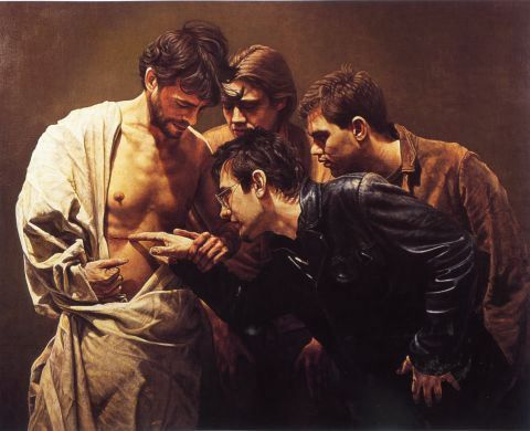 jesus and caravaggio Supper at emmaus (1601-2) by caravaggio: meaning, analysis of caravaggesque biblical painting.