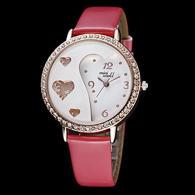 Womens Sweet Heart Style Diamond Case Leather Band Quartz Analog Wrist Watch (Assorted Colors) http://mxpi.co.nf/?item=999595