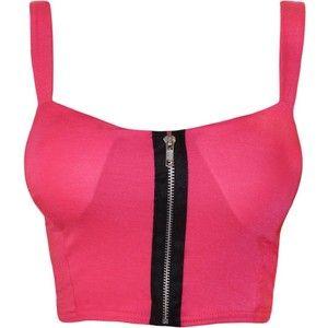 PaperMoon Women's Zip Crop Bralet Top