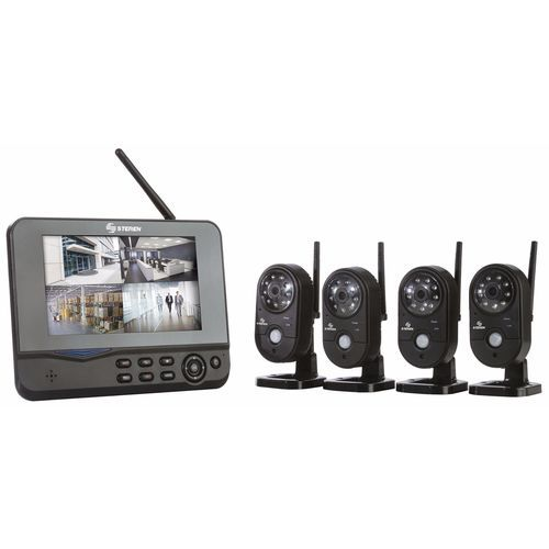 Wireless Video Security System 4 Cameras Remote Monitor Receiver SD Record ON SALE NOW!