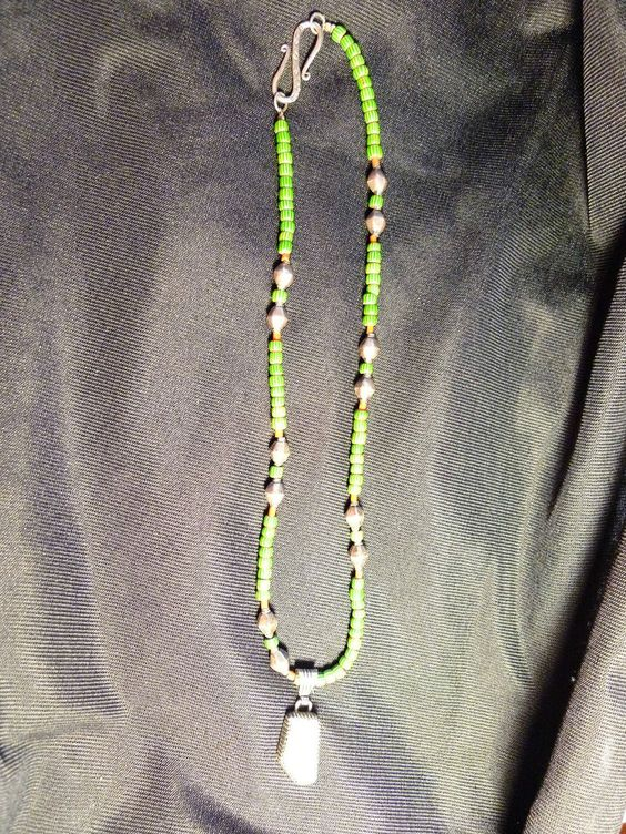 Navajo Sterling Silver Necklace signed RB with Gaspeite, Beads, Coral REDUCED!!! #Unbranded