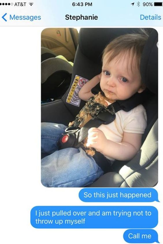 This Dad's Texts After His Kid Puked in the Car Will Make Your Day