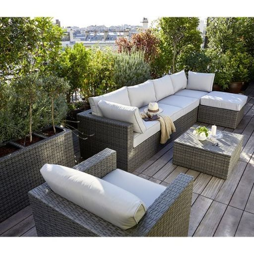 Salon De Jardin En Resine Tressee Encastrable Doppio Pour Balcon