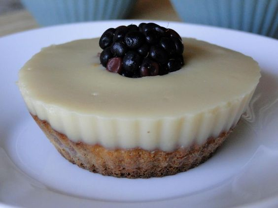 pastelitos de mora y vainilla sin azúcar