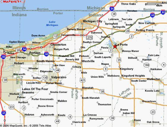 Laporte indiana la porte county indiana county maps for Indiana la porte